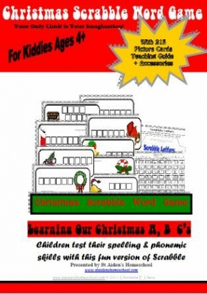 Printable Christmas Games, Christmas Scrabble Word Game