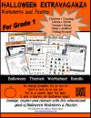 Halloween Worksheets and Puzzles, Grade 1