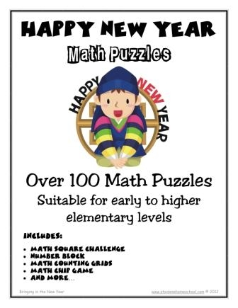 100 new year themed math puzzles st aidens homeschool and currclick